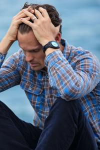 Man suffering from Anxiety