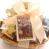 bumbleBdesign - Seattle Basket with Pike Place Market postcard, Seattle WA