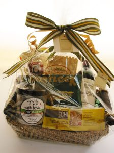 Our Seattle Basket features tasty local snacks and drinks
