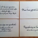 bumble B design - Calligraphy - wedding table signs - Bookhand style, Seattle calligraphy