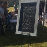 bumble B design Wedding Welcome Chalkboard, Seattle WA