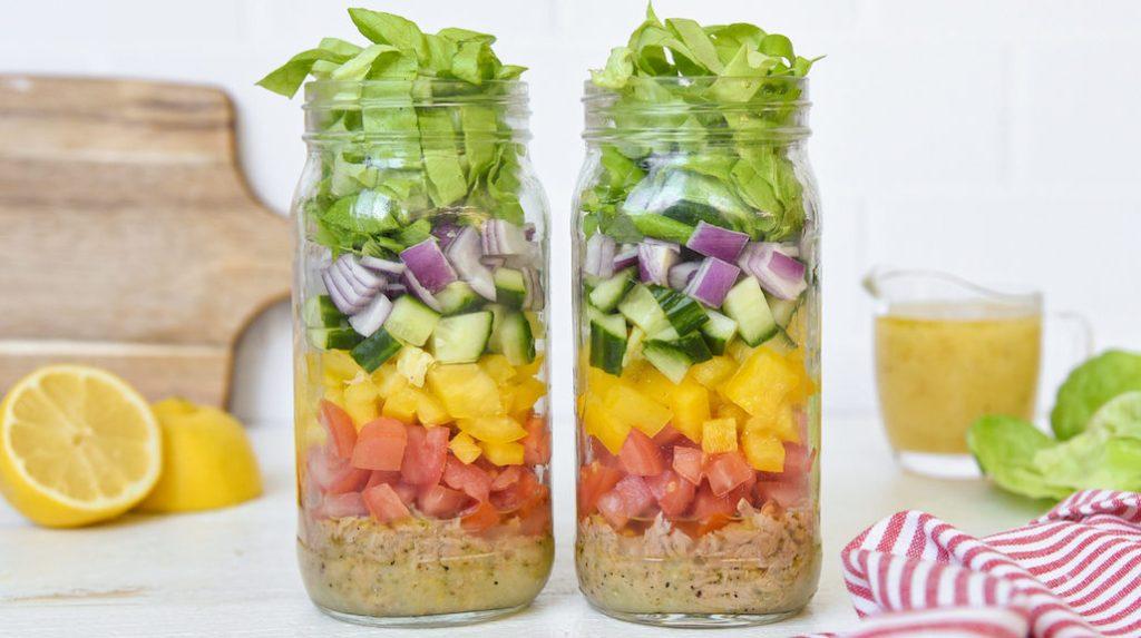 Meal Prep Mason Jar Lemon-Pepper Tuna Salad