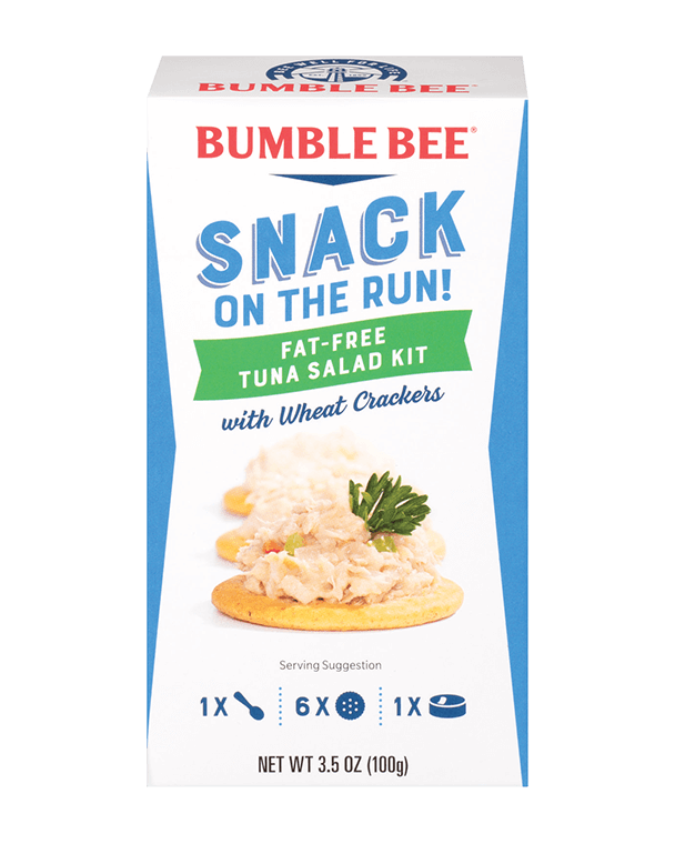 BUMBLE BEE® Snack On The Run! Fat Free Tuna Salad Kit With Wheat Crackers