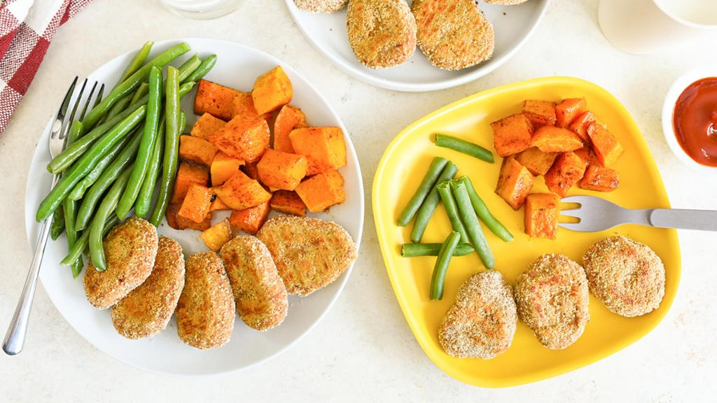 Baked Tuna Nuggets with Maple Butternut Squash