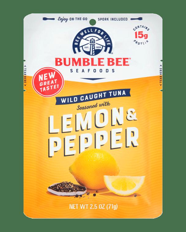 BUMBLE BEE® Lemon & Pepper Seasoned Tuna Pouch With Spork