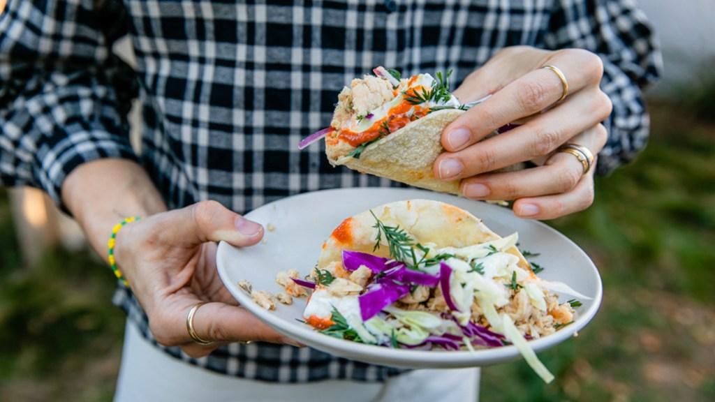 Sesame Salmon Tacos
