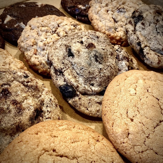 A picture of a selection of cookies.