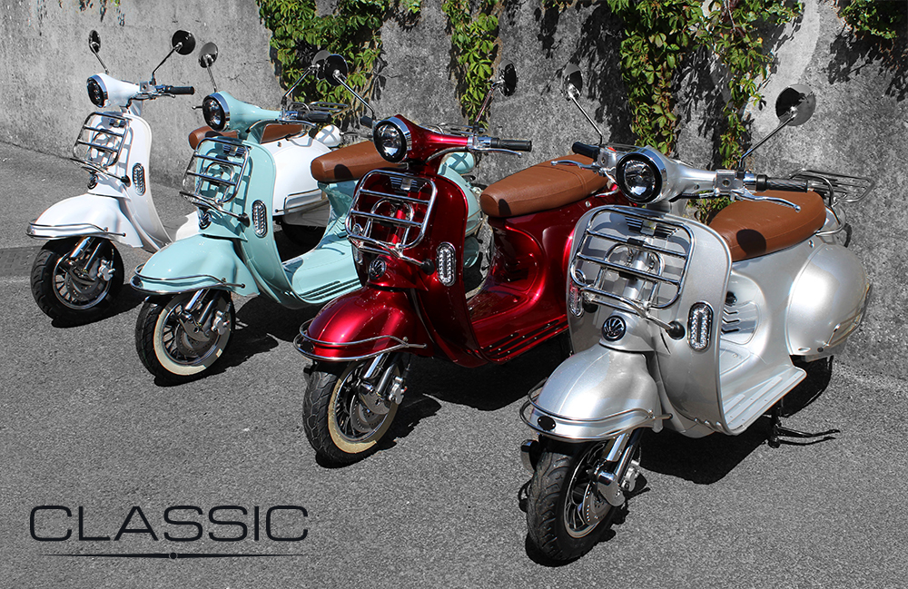 Classic Electric Moped colour range