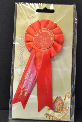 Confirmation Rosette Personalised Ribbon Confirmation