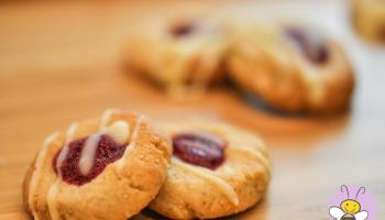 Mohnknoepfe mit Cranberryjam