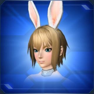 ホワイト立ちうさ耳White Upright Bunny Ears