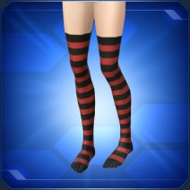 縞タイツ赤Red Striped Tights