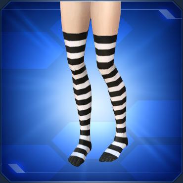 縞タイツ白White Striped Tights