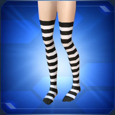 縞タイツ白White Striped Tights