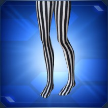 縦縞タイツ白/黒Striped Tights White/Black