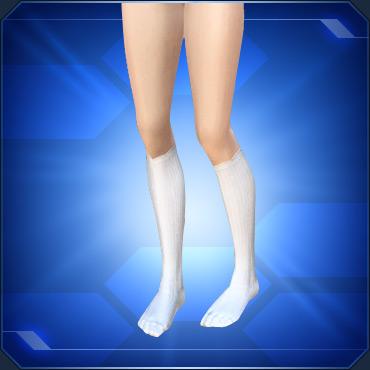 ハイソックス白 White Knee Socks