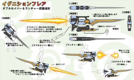 Third Place~ Ignition Flare~(Double Saber & Launcher)Artist: Hound