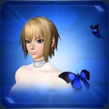 羽ばたき蝶々 青 Blue Flapping Butterflies