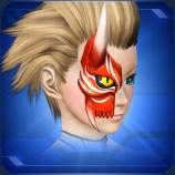 半鬼面 赤 Red Half Devil Face