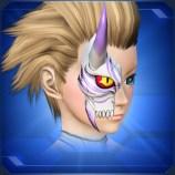 半鬼面 白 White Half Devil Face