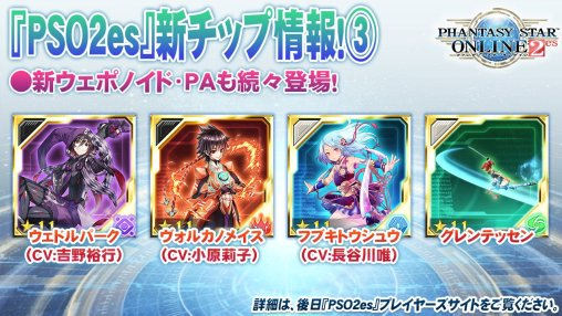 PSO2es Upcoming Weaponoid