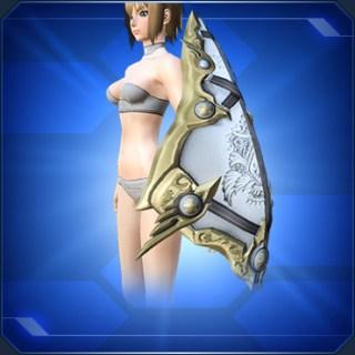 クエントの飾り盾 白 Cuent Decorative Shield W