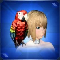 肩乗せインコ Perched Parakeet