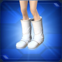 レザーブーツ 白 Leather Boots White
