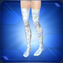 花柄ニーソックスB Floral Thigh Highs B