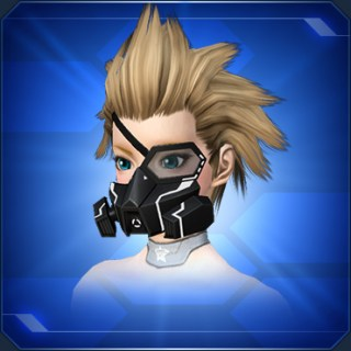 ハーフアームドマスク 白Half Armed Mask White