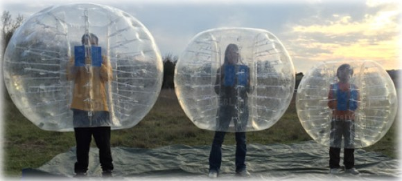 tailles bubble, bumperball