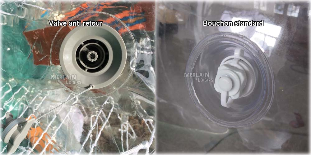 bouchon vs valve anti retour bumperball