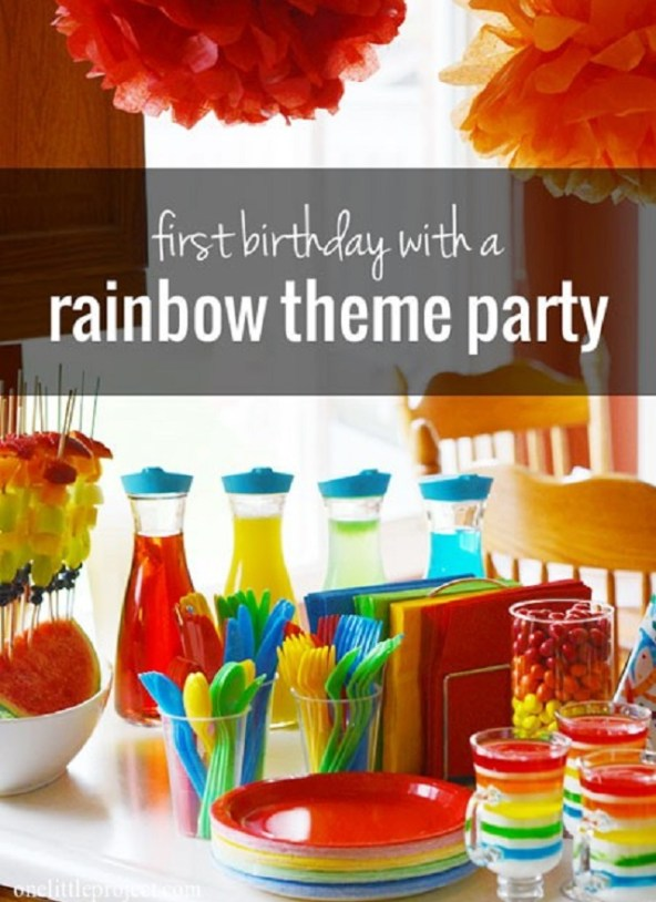 Rainbow-theme-first-birthday-party