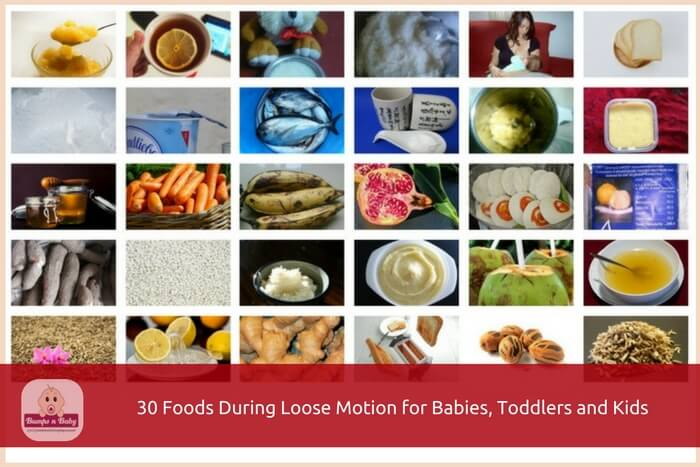 foods during loose motion for babies