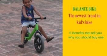balance bike benefits