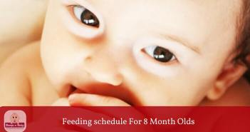 feeding schedule for 8 month old baby