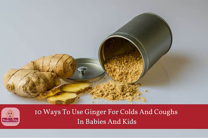 ginger for colds and cough