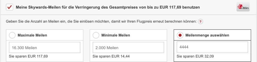 Emirates Skywards Cash+Miles