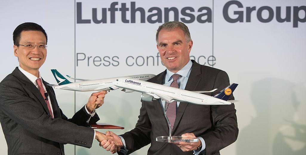 Wir fliegen mit Lufthansa und Cathay Pacific