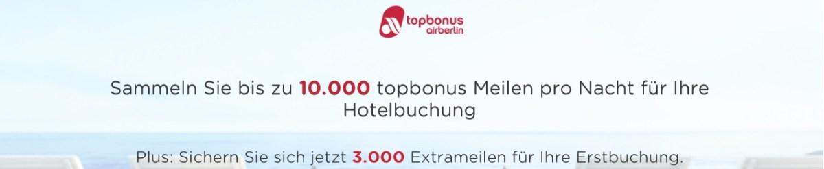topbonus hotelportal hotelbuchung hotel buchung rocketmiles bonus promo 3.000 meilen extrameilen