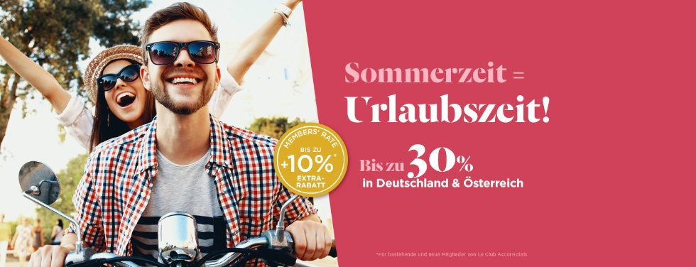 40% Rabatt in Deutschland & Österreich | Accor le club accorhotels leclub sommerzeit urlaubszeit sale promo rabatt