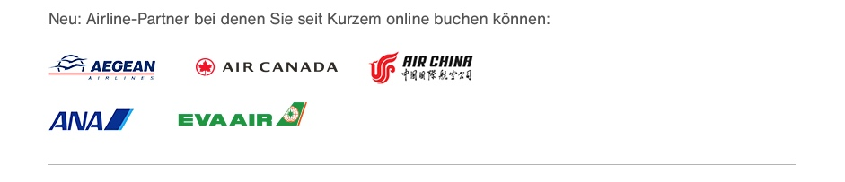 Miles and More: Weitere Star Alliance Airlines online buchbar