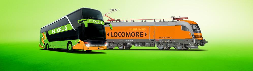 Flixbus fährt Zug: Locomore + HKX