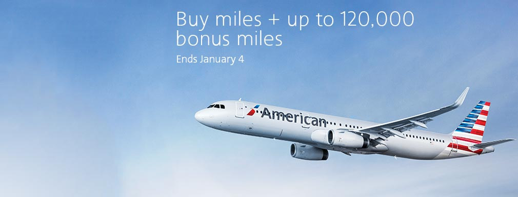 american airlines AAdvantage Meilen kaufen: Bis zu 80 % Bonus miles purchase sale promo