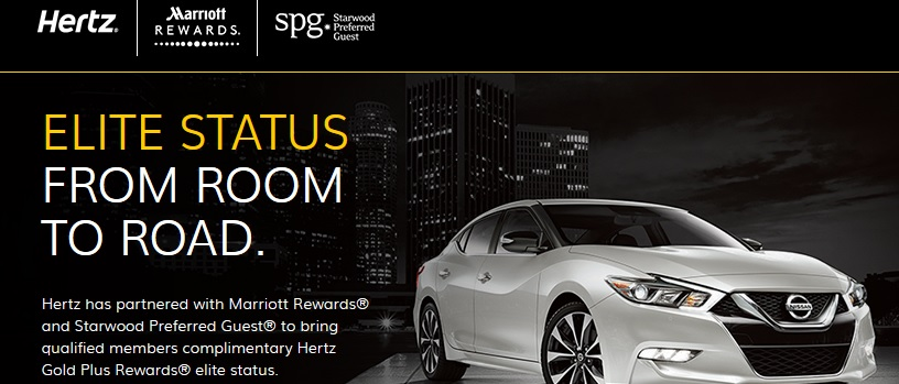 SPG/ Marriott: Status Match zu Hertz