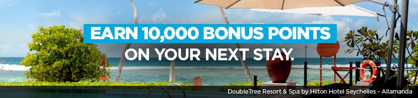 Hilton Honors: 10.000 Bonus-Punkte für einen Aufenthalt