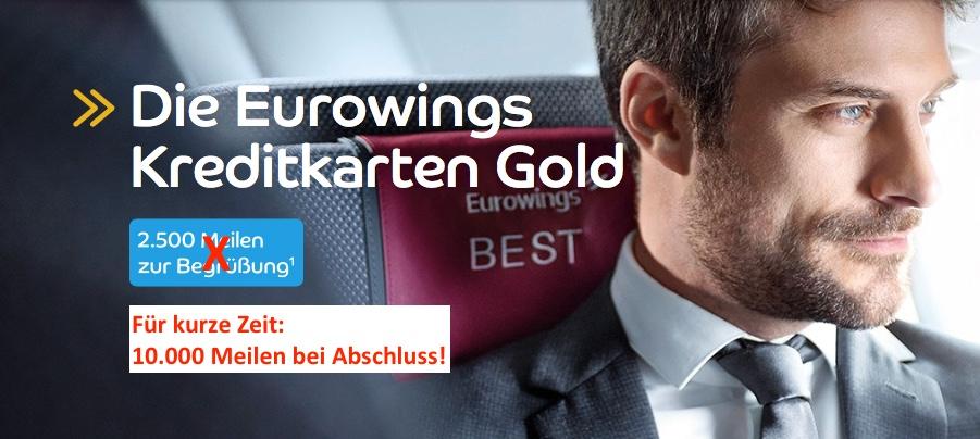 Eurowings Kreditkarte + Freiflug in Europa: kostenfrei!