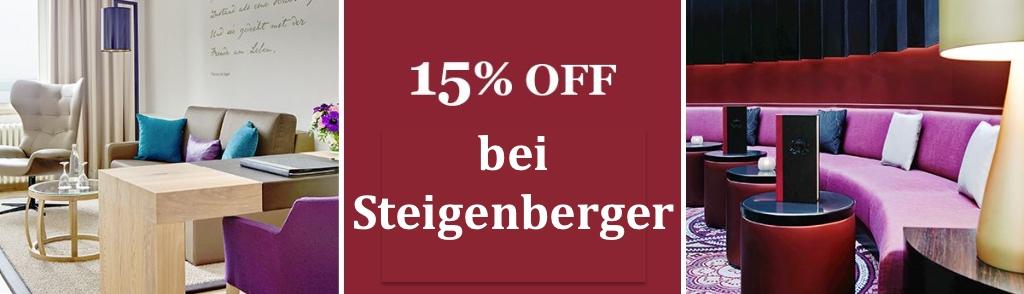 Steigenberger: 15 % Rabatt
