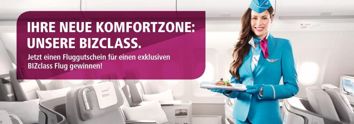 Eurowings Gewinnspiel: 1000 Euro Gutschein