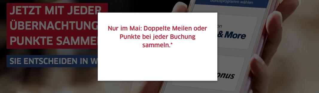 HRS: Doppelte Meilen für Miles & More hotel buchung mai august 2018 bahn.bonus punkte deutsche bahn db